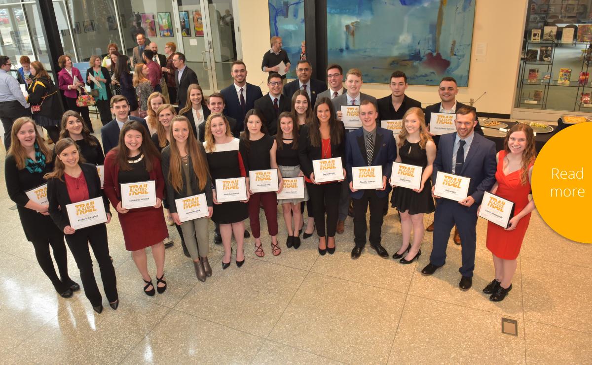 Pictured are the 2017-18 Trailblazer recipients